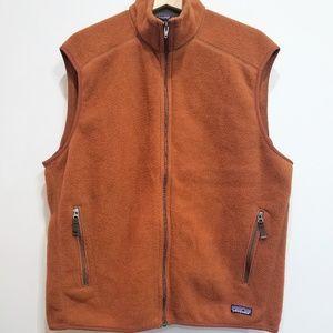 Patagonia Synchilla Brown collard fleece vest XL